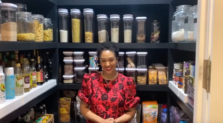 Tia Mowry Shows Off Her Pantry While in Quarantine
