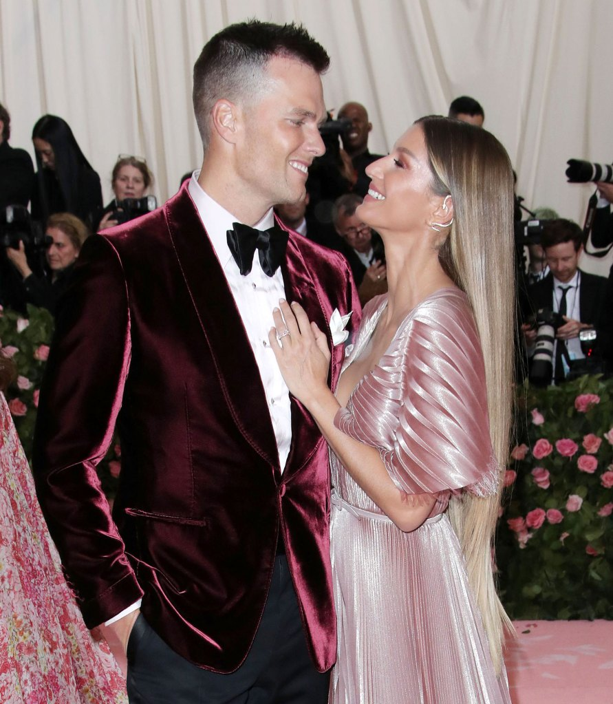 Tom Brady and Gisele Bundchen Costume Institute Benefit Easter Family Photo