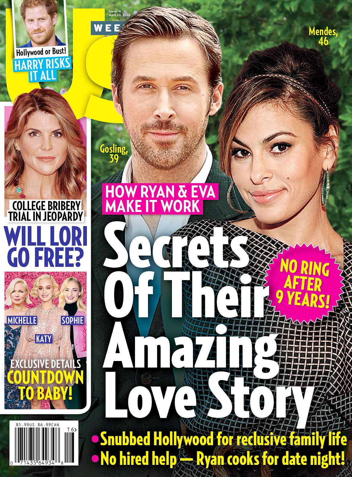 Us Weekly Cover Issue 1620 Ryan Gosling and Eva Mendes