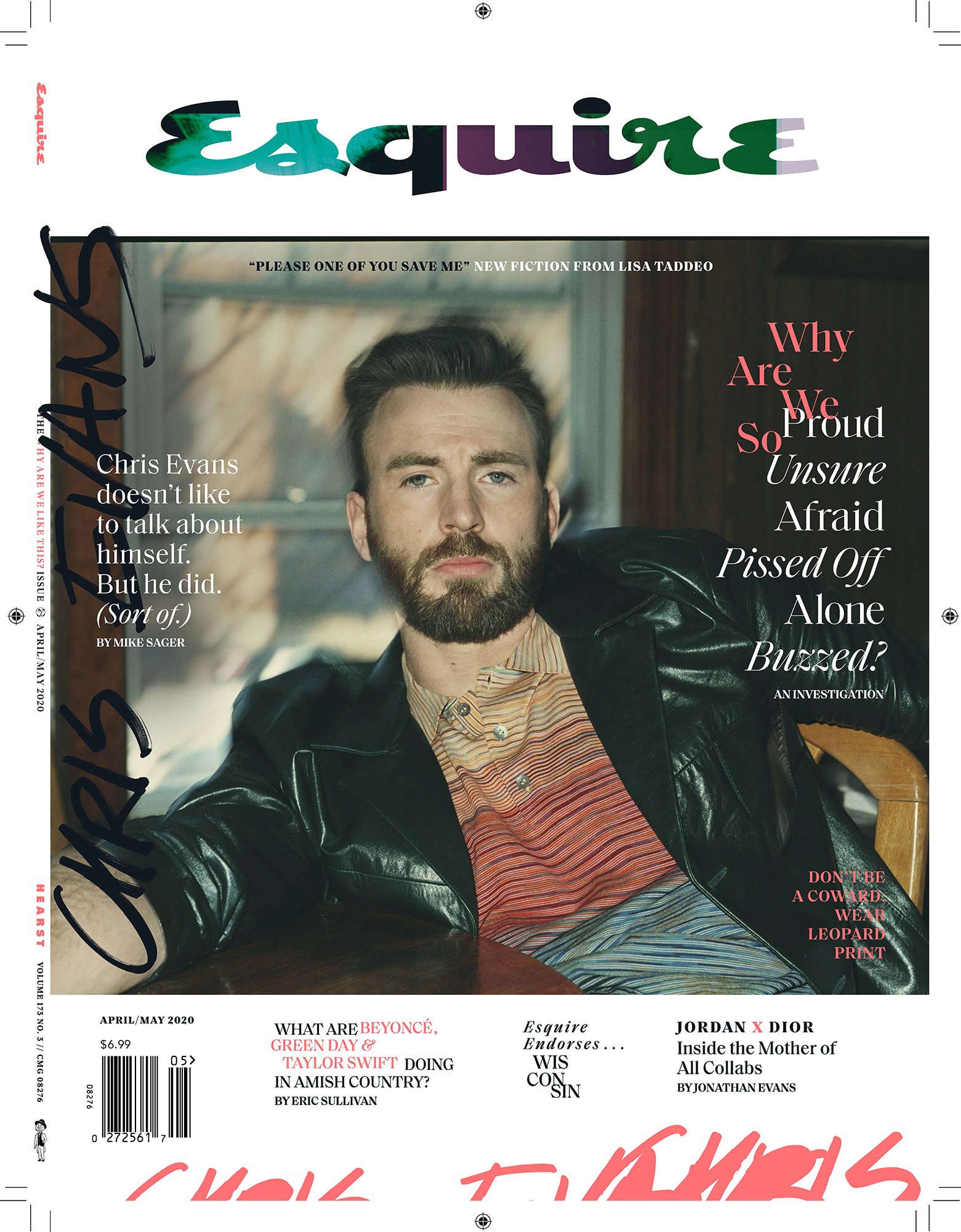 cover Esquire Chris Evans by Robbie Fimmano