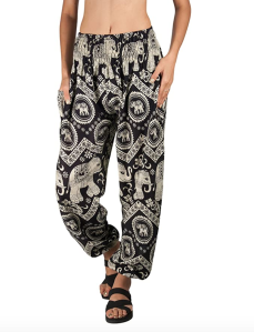 Joob Joob Women's Comfy Bohemian Lounge Pants (Black)
