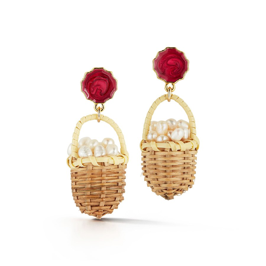 Chefanie Nass Pearl Basket Earrings Us Weekly Issue 20 Buzzzz-o-Meter