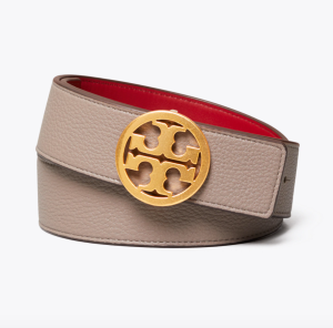 1 1/2″ Reversible Belt (Gray Heron / Red Apple / Gold)