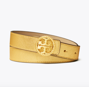 1 1/2″ Twisted Logo Belt (Gold)