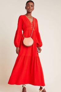 Alisha Tiered Maxi Dress (Bright Red)
