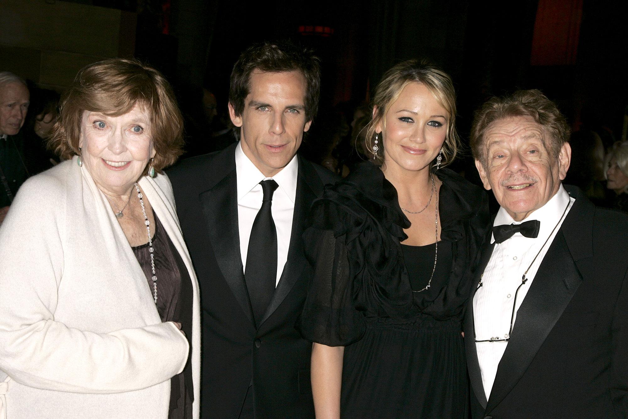 Anne Meara, Ben Stiller, Christine Taylor and Jerry Stiller Dead