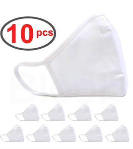 BLOOK 100% Cotton Fashion Protective Face Mask 10 Pack