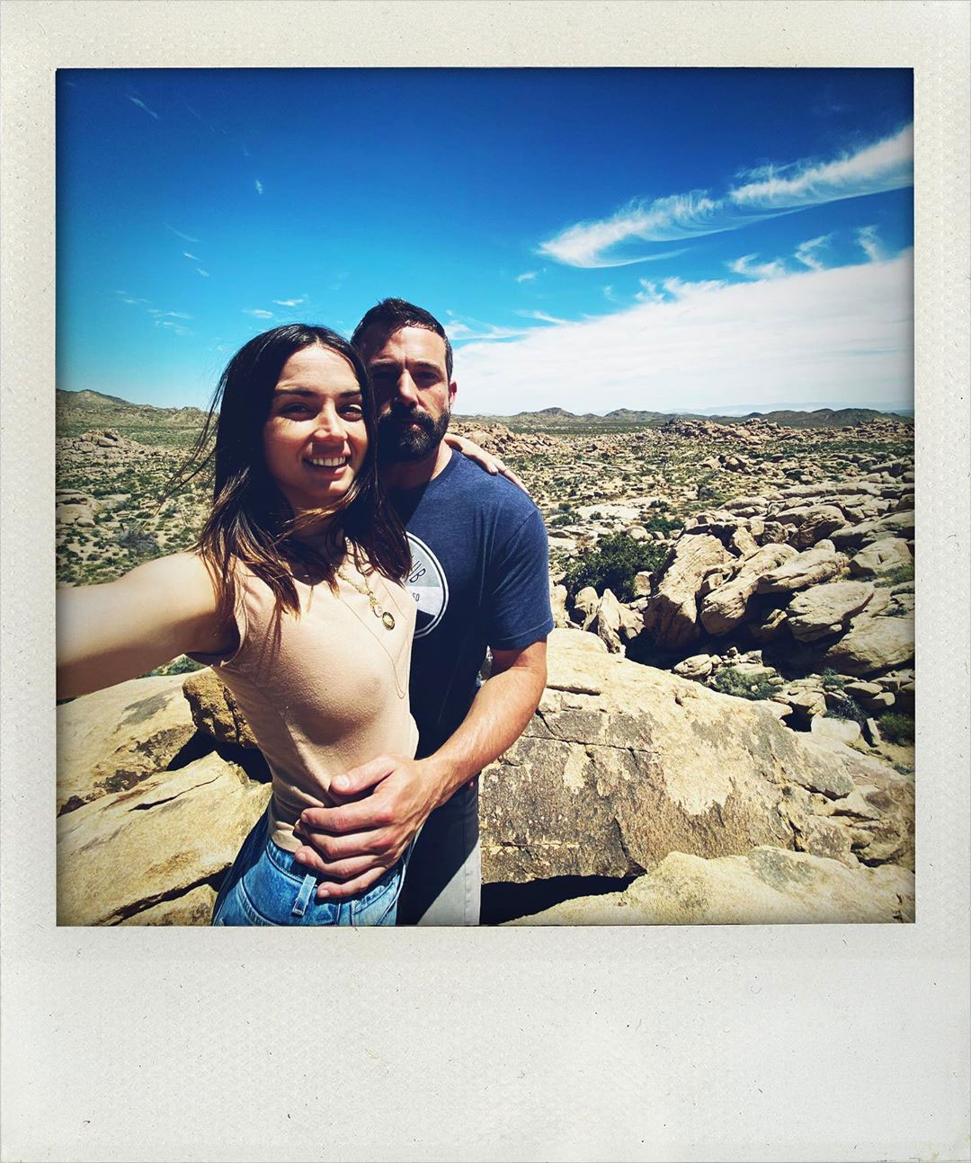 Ben Affleck Over The Top Birthday Getaway Ana de Armas Instagram Polaroid