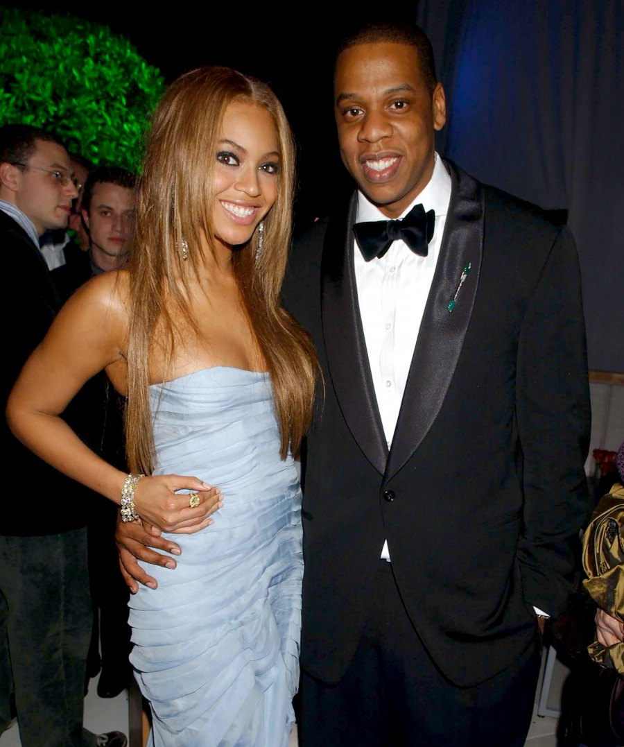 Beyonce Knowles and Jay-Z push present