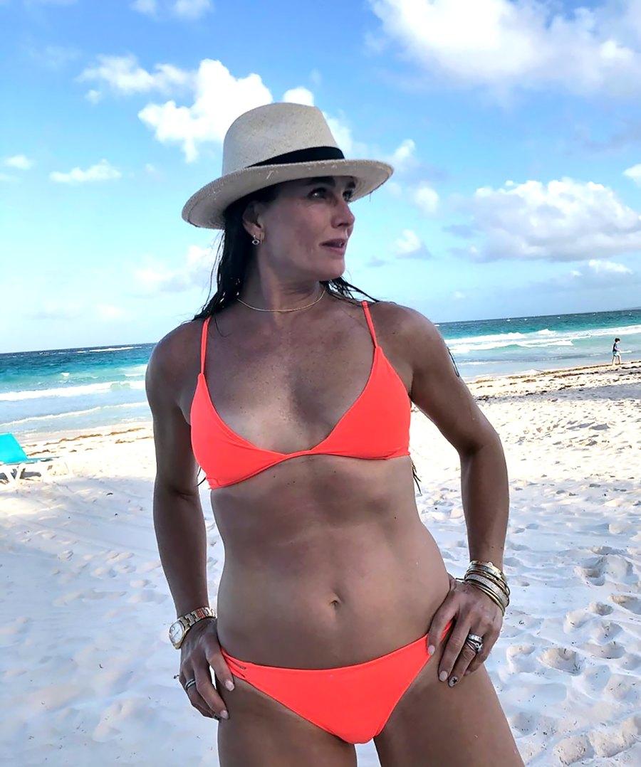 Brooke Shields, 54, Shows Off Enviable Abs in Neon Bikini