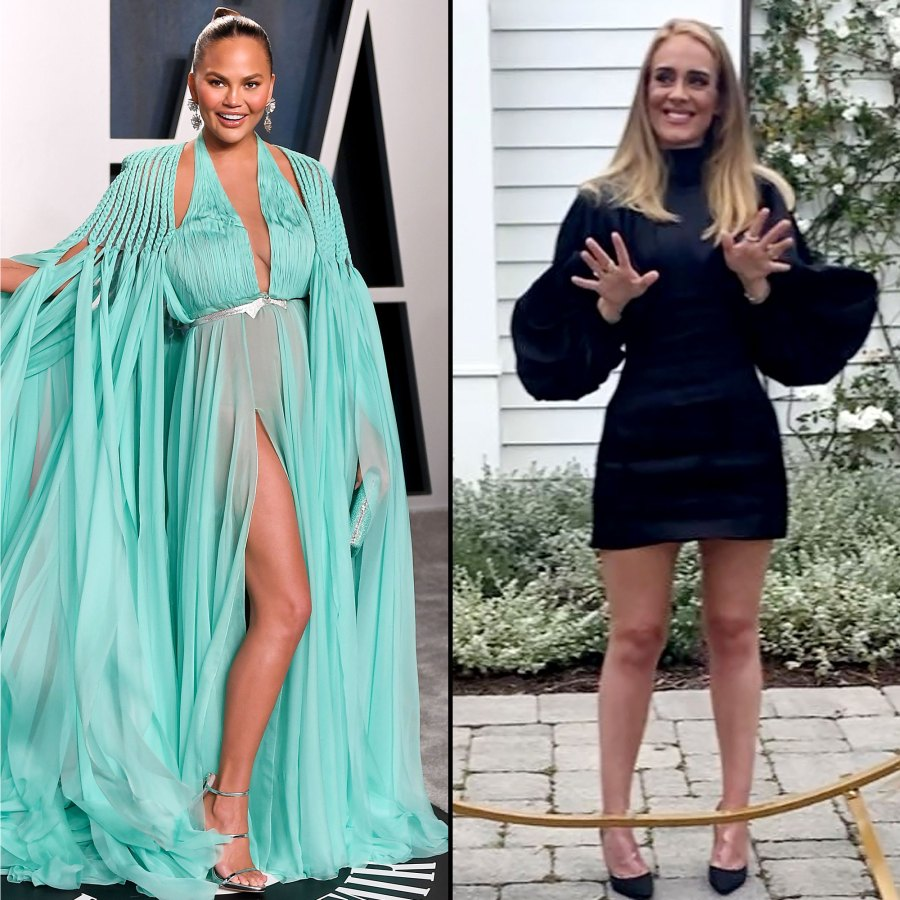 Chrissy Teigen Celebrities Cant Stop Freaking Out Over Adele Transformation
