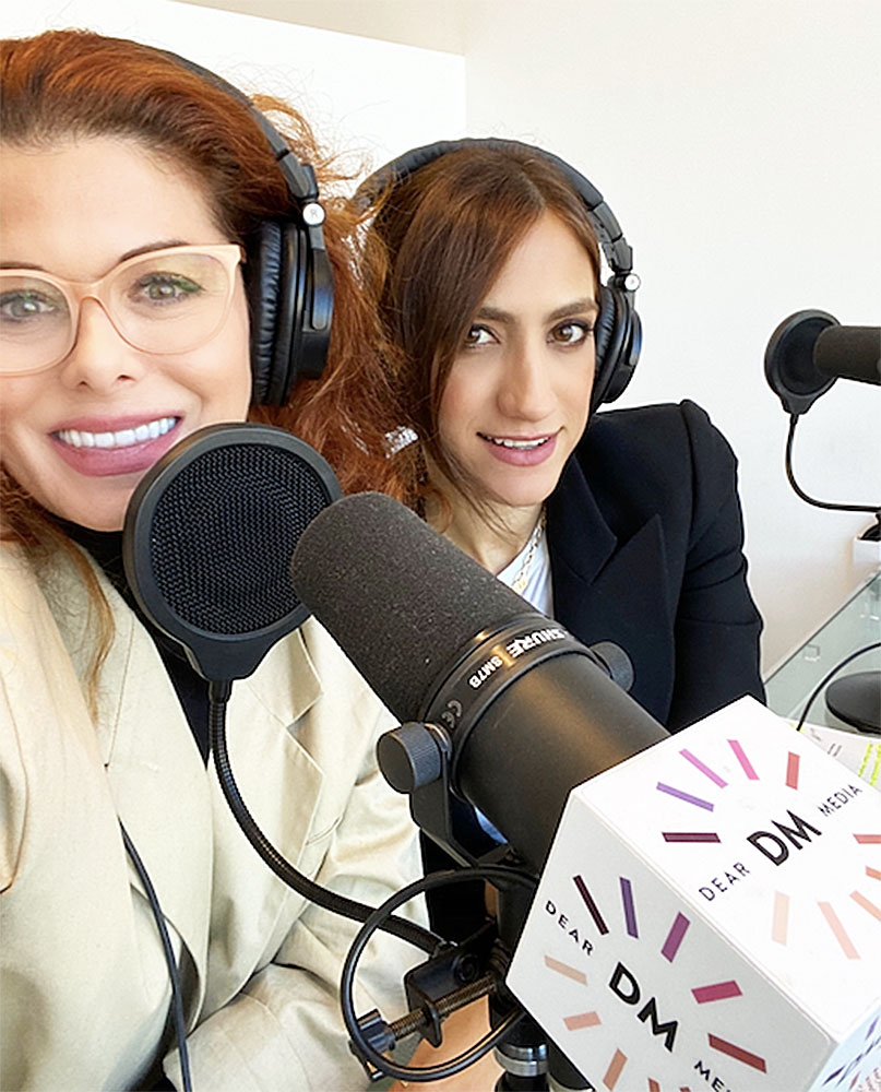 Debra Messing and Mandana Dayani Debra Messing Is Tired of Women in Media Being Pitted Against Each Other