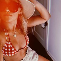 Where to Get Emily Osment's Cute Gingham Bathing Suit
