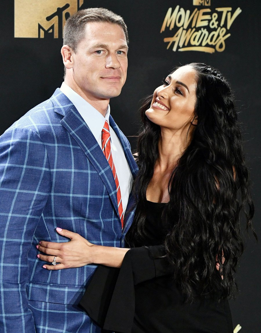 John Cena and Nikki Bella at the MTV Movie and TV Awards 2017 Everything Nikki Bella Said About John Cena in Her New Book