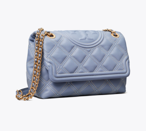 Fleming Soft Contrast-Stitch Convertible Shoulder Bag (Bluewood / Pancake)