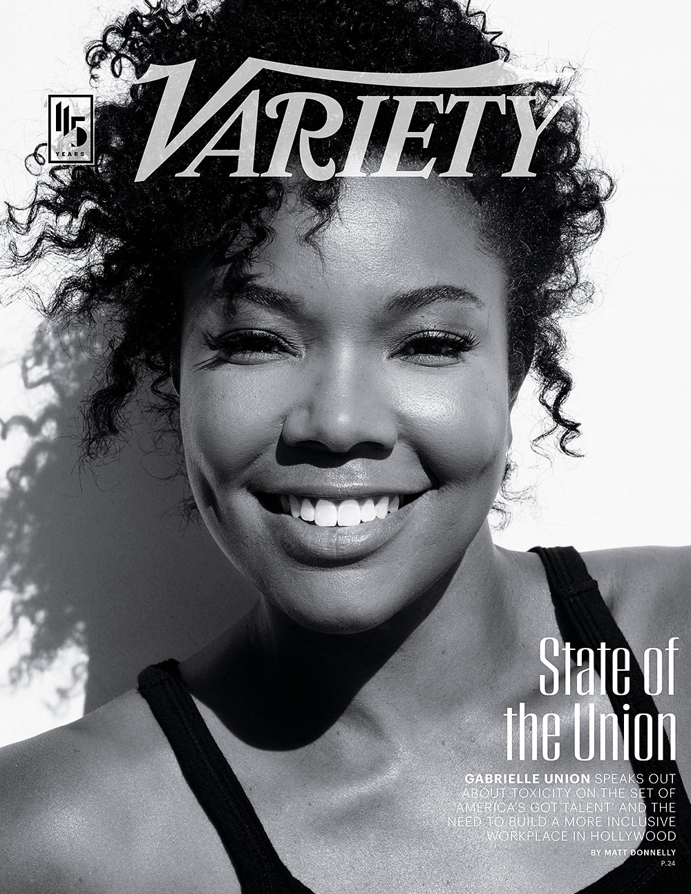 Gabrielle Union on the cover of Variety