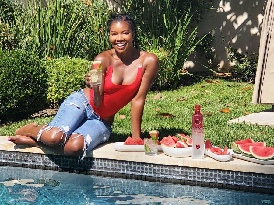 Gabrielle Union celebrates long weekend with CÎROC Summer Watermelon Spritzer