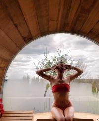 Hailey Baldwin Shares a Seriously Steamy Pic in a Red Hot Bikini