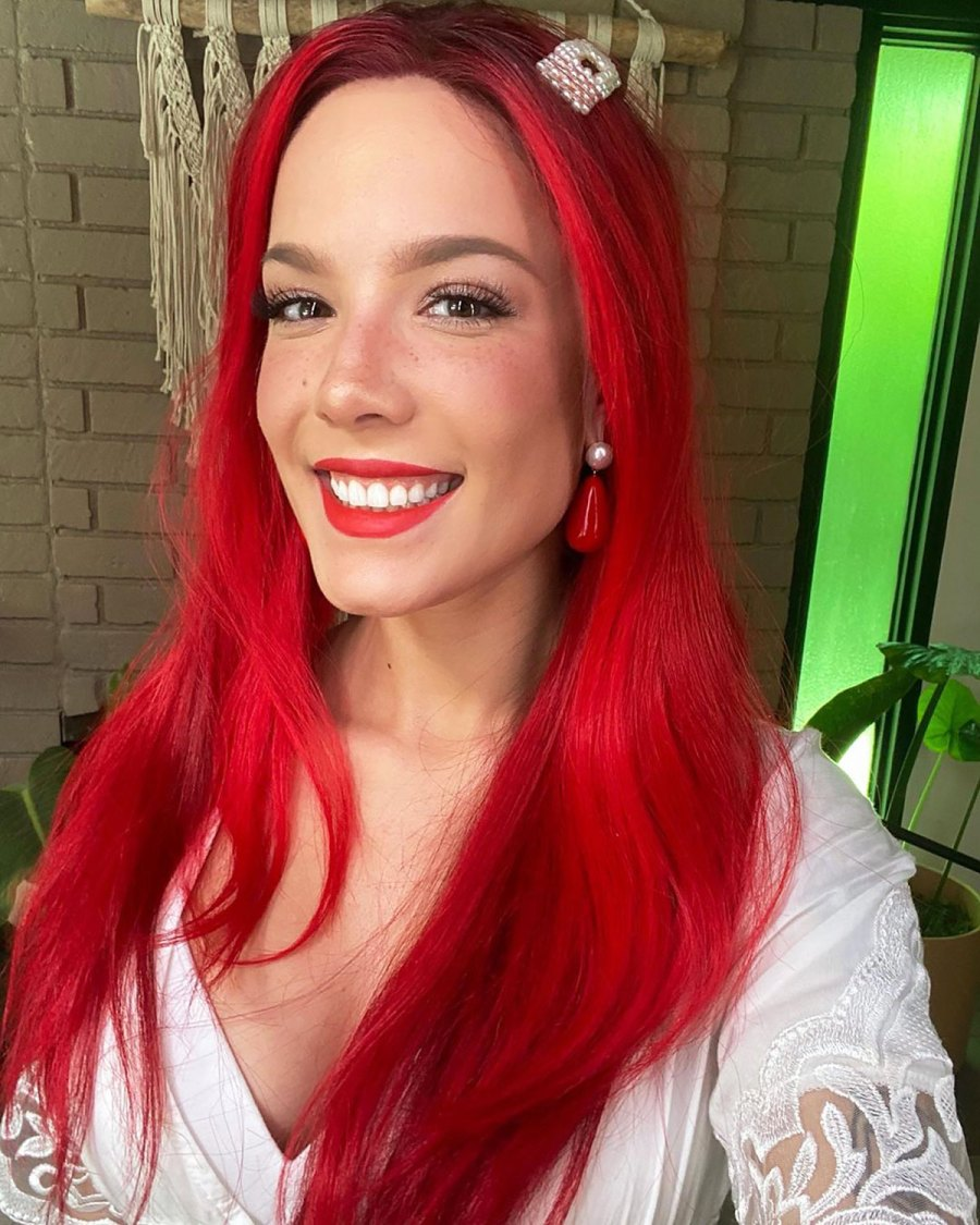 Halsey Channels Ariel for the 'Disney Singalong in a Red Wig