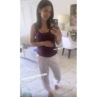 Hilaria Baldwin baby bump mirror