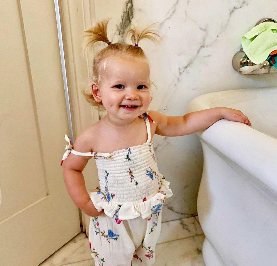 Jessica Simpson Daughter Birdie Wearing Bird Print Outfits