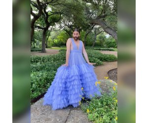 Jonathan Van Ness Stuns in a Tulle Christian Siriano Gown While in Quarantine