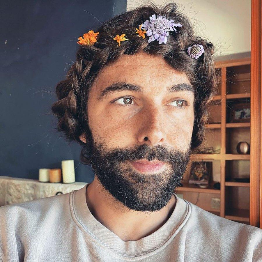 Jonathan Van Ness Wears a Flower Braid That's a Work of Art