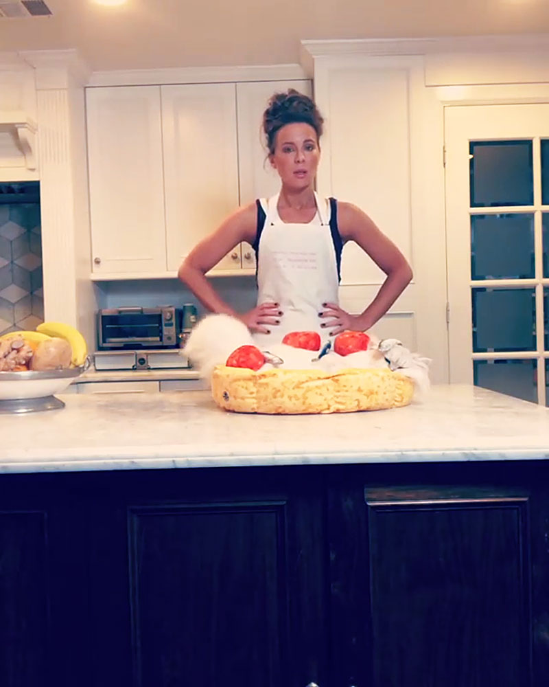 Kate Beckinsale Shares a LOL-Worthy Cooking Tutorial With Her Cat