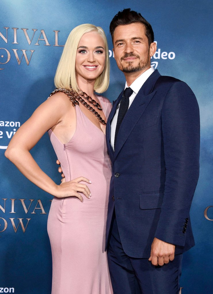 Katy Perry Shares Ultrasound Video of Her and Orlando Bloom Daughter Flipping Them Off Pink Dress Blue Suit