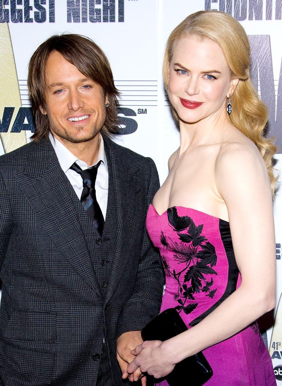 Keith Urban and Nicole Kidman push present