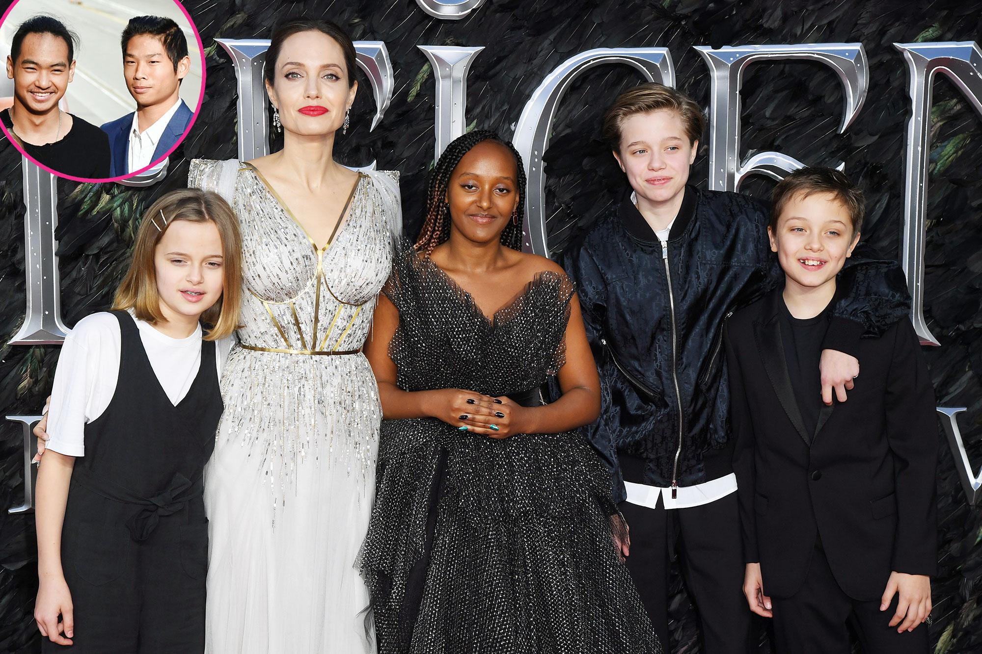 Maddox Jolie-Pitt Pax Jolie-Pitt Vivienne Jolie-Pitt Angelina Jolie Zahara Jolie-Pitt Shiloh Jolie-Pitt and Knox Jolie-Pitt