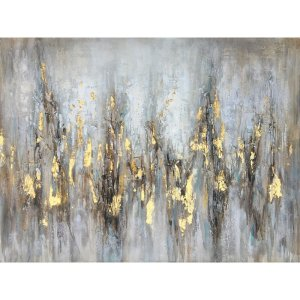 Mercer51 'Gleaming Gold' Oil Painting Print on Wrapped Canvas