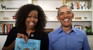 Michelle Barack Obama Tease Each Other Chicago Public Library Video
