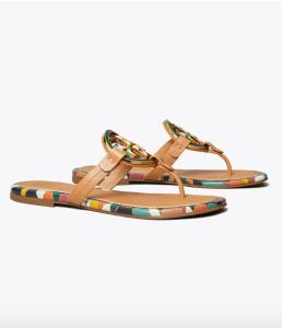Miller Enamel-Logo Sandal (Aged Vachetta)