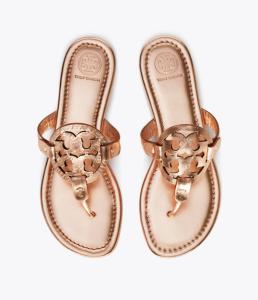 Miller Sandal, Metallic Leather (Rose Gold)