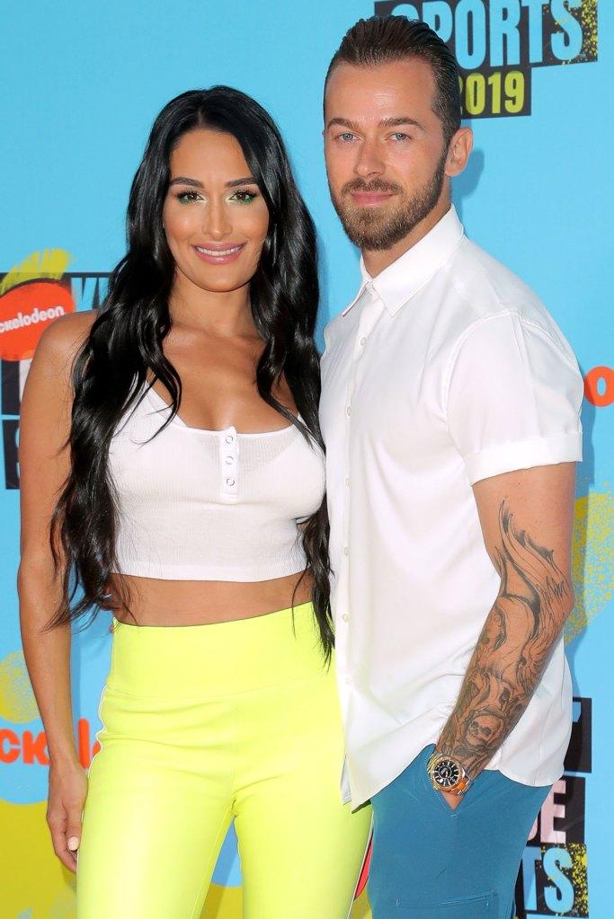 Nikki Bella and Artem Chigvintsev Nickelodeon Kids Choice