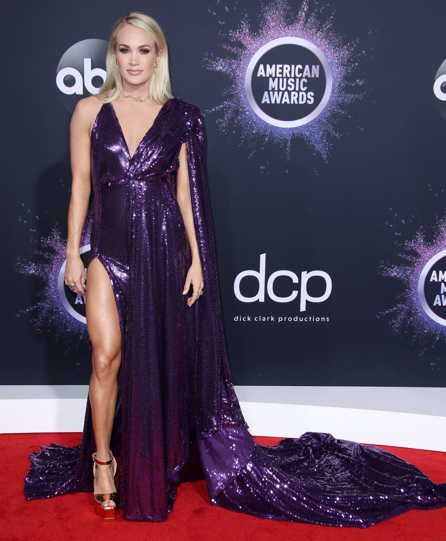 American Music Awards 2019 Carrie Underwood Red Carpet Style Evolution