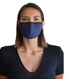 NxTSTOP Apparel TRAVLEISURE Adjustable, Reusable, Washable Bamboo Face Mask (Navy)
