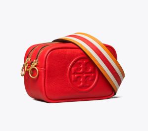 Perry Bombé Pieced-Strap Mini Bag (Brilliant Red)