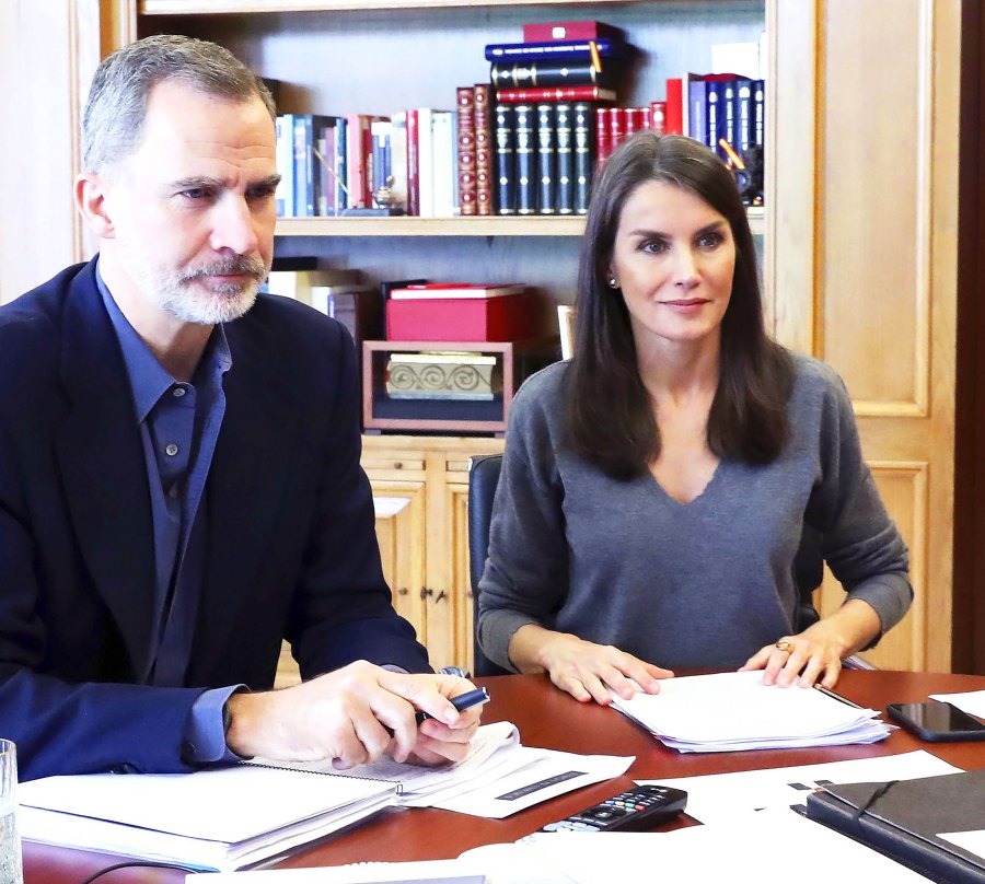 Queen Letizia Keeps It Simple in a Gorgeous Gray Sweater
