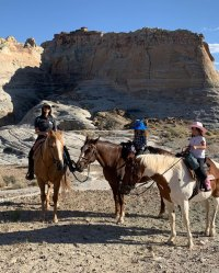 Reign Blue Cowboy Hat Penelope Pink Cowboy Hat Horseback Riding Western Vacation Kourtney Kardashian Instagram