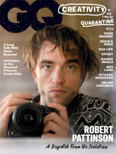 Rob Pattinson Photographs Himself with Quarantine Hair for the Cover of GQ's June Issue