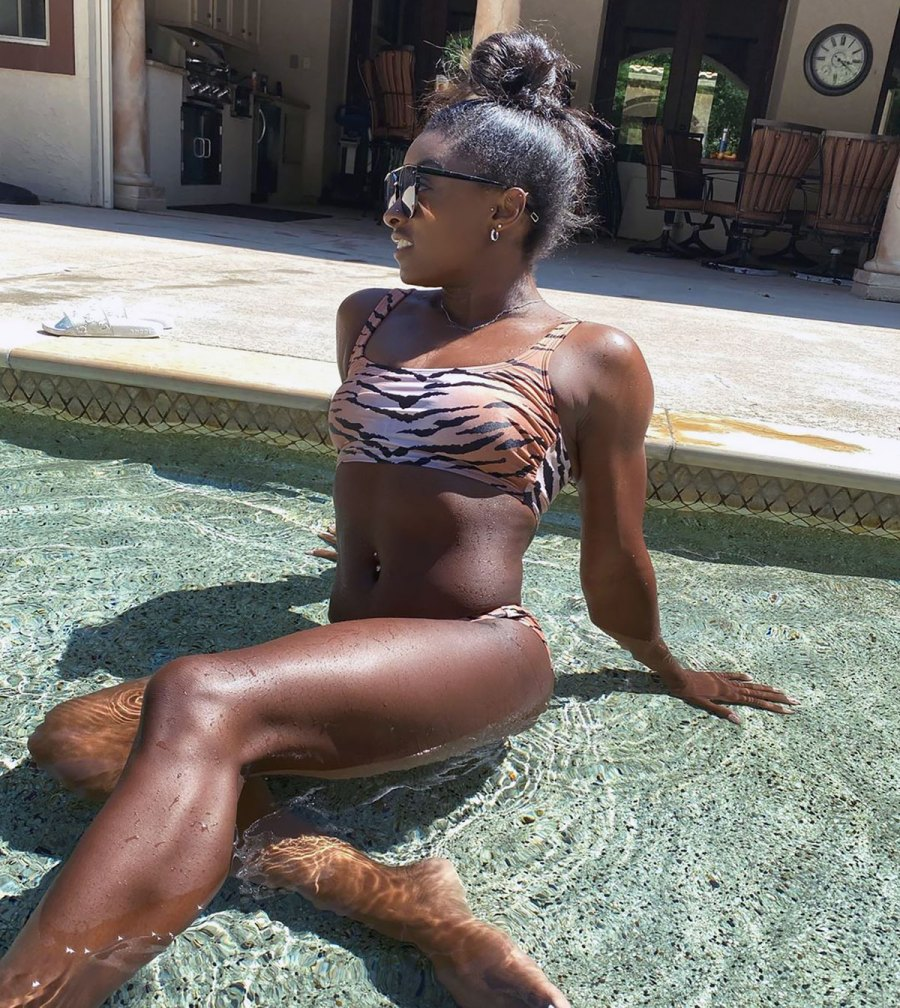Simone Biles' Toned Physique Is Off the Charts in This Bikini Pic