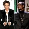 Stars with Cookbooks Kris Jenner Snoop Dogg