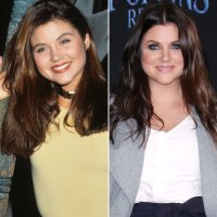 Tiffani Thiessen Beverly Hills 90210 Cast Then and Now