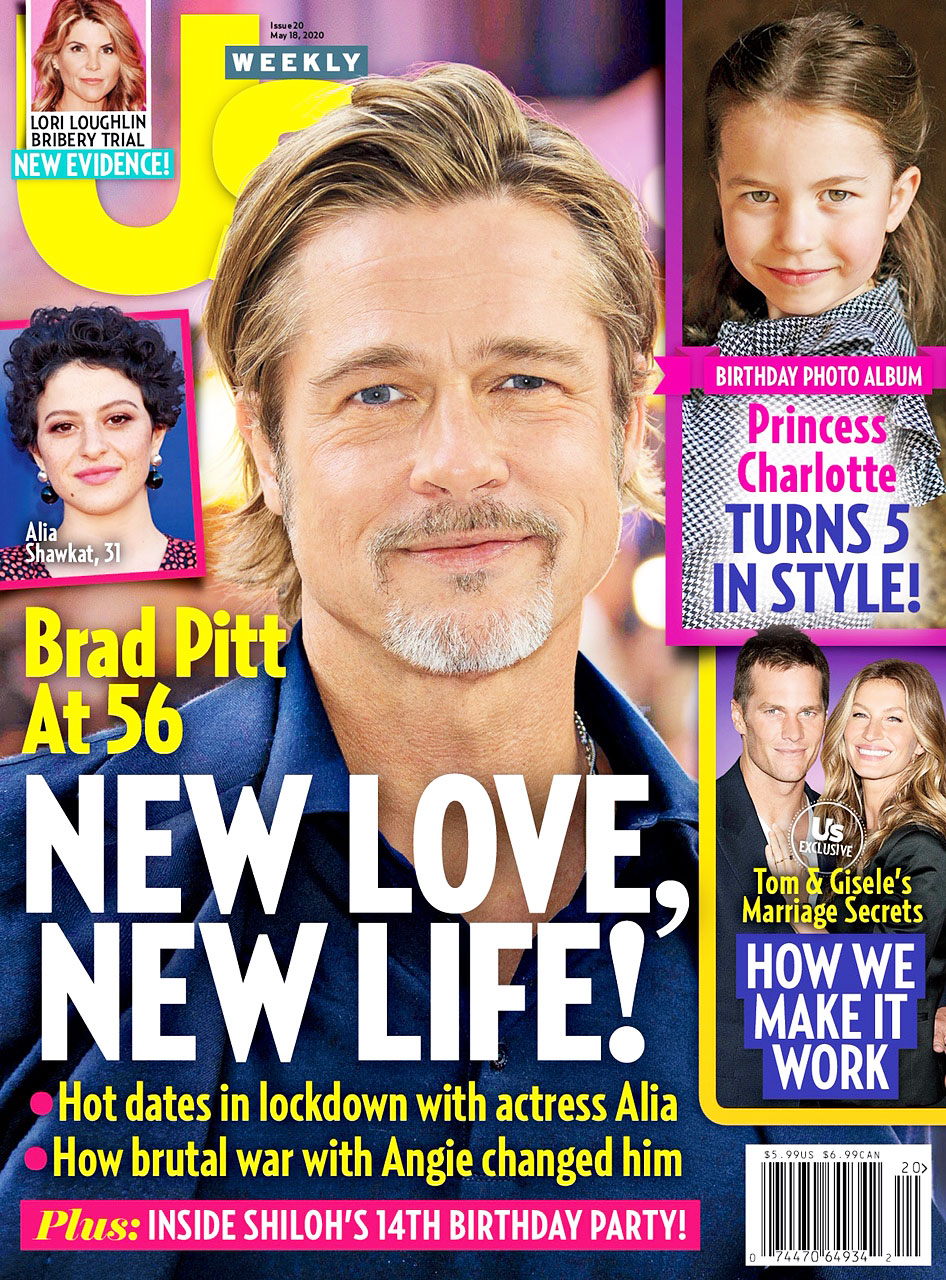 Us Weekly Cover Issue 20 Brad Pitt