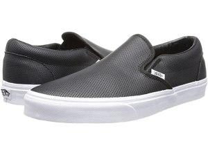 Vans Classic Slip-On Core Classics (Perf Leather Black)