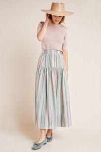 Virginia Striped Maxi Skirt
