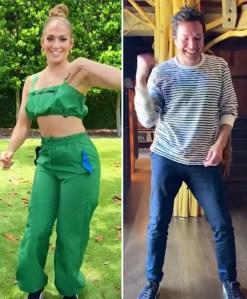 Watch Jennifer Lopez and Jimmy Fallon's TikTok Dance Challenge