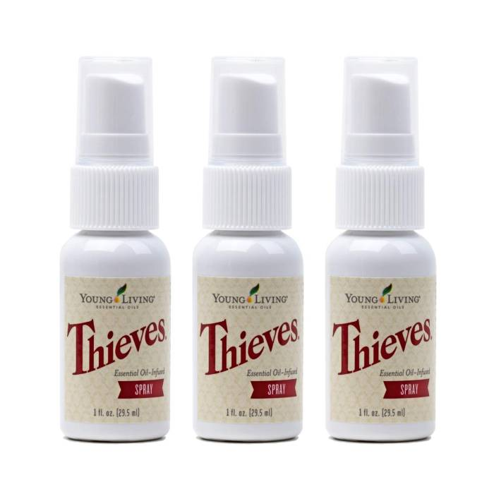 Young Living Thieves Spray 3 pack, 1 fl. oz.